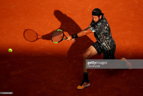 Khachanov outhit Del Potro on his way to victory/Photo: Clive Brunskill/Getty Images