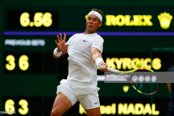 Nadal was sharp throughout the match/Photo: Adrian Dennis/AFP/Getty Images