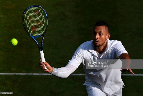 Kyrgios played well, but failed to duplicate his result of five years ago/Photo: Daniel Leal-Olivas/AFP/Getty Images