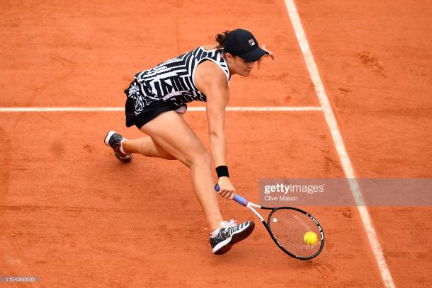 Barty will look to employ her slice regularly (Getty Images/Clive Mason)