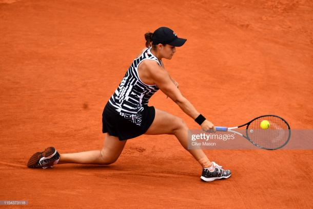 Barty in action on her way to the final (Getty Images/Clive Mason)