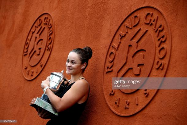 Barty at a celebration following her triumph (Getty Images/Julian Finney)
