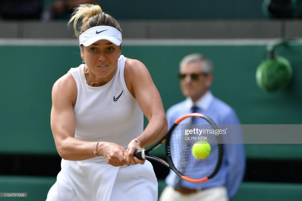 Svitolina overcame deficits in both sets to reach her maiden semifinal at a major/Photo: Glyn Kirk/AFP/Getty Images
