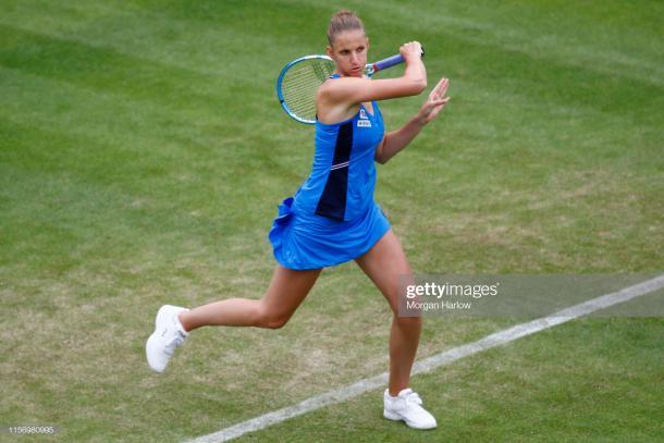Pliskova in action in Birmingham last week (Getty Images/Roger Evans/Action Plus)