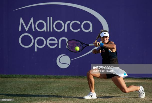 Kerber in action in Mallorca this week (Getty Images/Quality Sport Images)