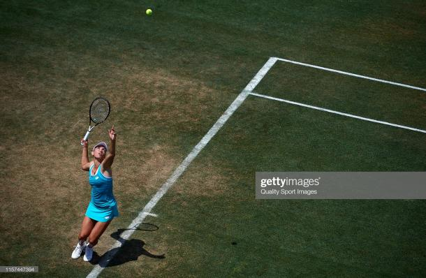 Mertens in action at the Mallorca Open last week (Getty Images/Quality Sport Images)