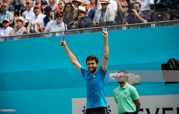 Simon celebrates his semifinal win over Medvedev (Getty Images/TPN)