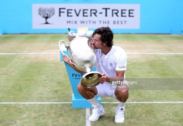 Lopez with the title (Getty Images/Alex Morton)