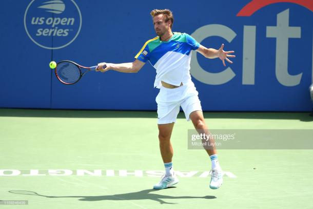 Peter Gowojczyk in action during the last eight (Getty Images/)