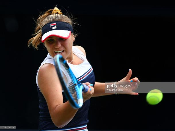 Sofia Kenin is into her first Premier 5 quarterfinal | Photo: Vaughn Ridley/Getty Images
