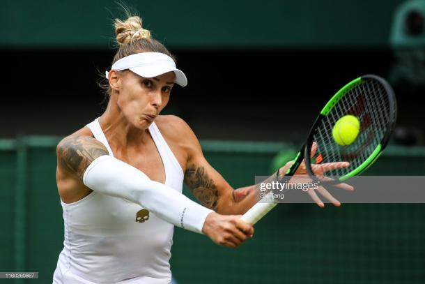 Hercog had her chances to close out the match in straight sets, but failed to capitalize on her opportunities/Photo: Shi Tang/Getty Images