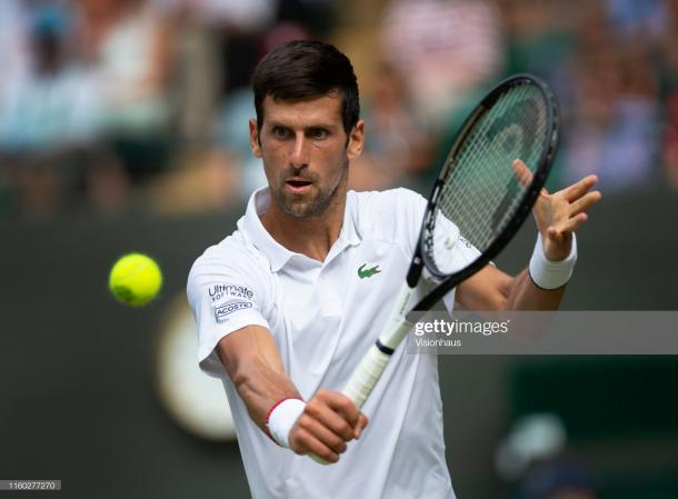 Djokovic is searching for a fifth Wimbledon title (Getty Images/Visionhaus)