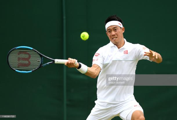 Nishikori improves his head-to-head record against the American to 5-0 (Image source: Shaun Botterill/Getty Images)