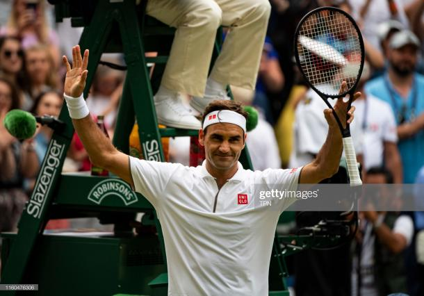 Federer is once again in the fourth round at Wimbledon (Getty Images/TPN)