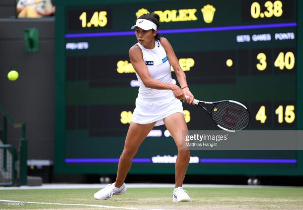 Zhang couldn't maintain her form from early in the match/Photo: Matthias Hangst/Getty Images