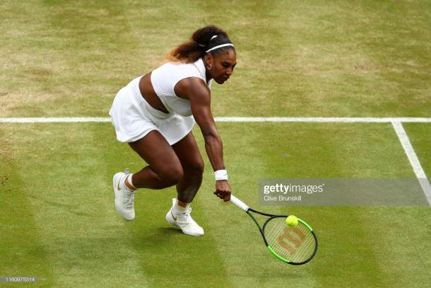 Williams in action on Centre Court today (Getty Images/Clive Brunskill)