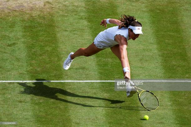 Konta started brightly, but could not handle Strycova after that (Getty Images/