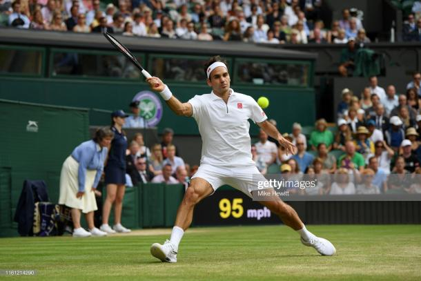 Federer weathered the early storm from Nishikori (Image source: Mike Hewitt/Getty Images)