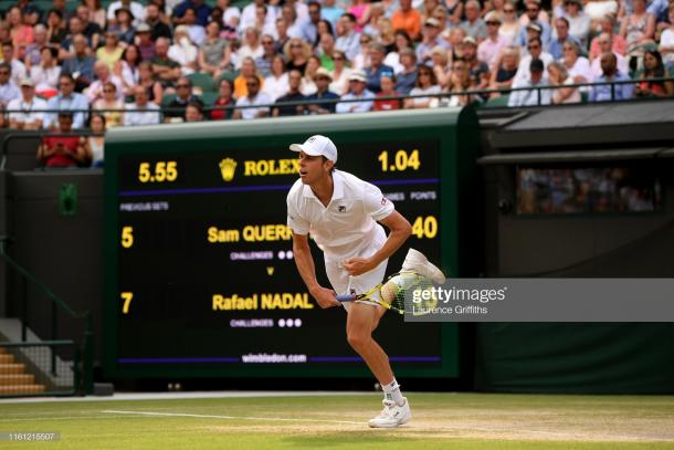 Querrey was eventually overpowered out on Court One today (Getty Images/Laurence Griffths)