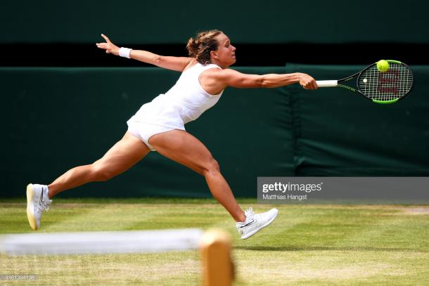 Strycova could do very little as she was swept away by Williams (Getty Images/Matthias Hangst)