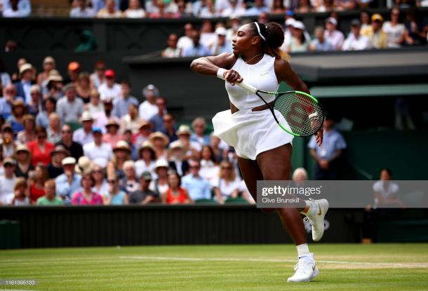 Williams was in full flight in a dominant semifinal performance (Getty Images/Clive Brunskill)