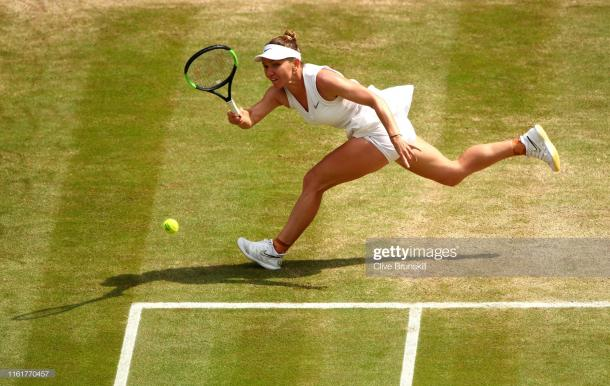 Halep produced a stunning display to capture her first Wimbledon title (Getty Images/Clive Brunskill)