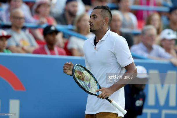 Kyrgios will open his Coupe Rogers campaign against Kyle Edmund this week (Image source: Rob Carr/Getty Images)