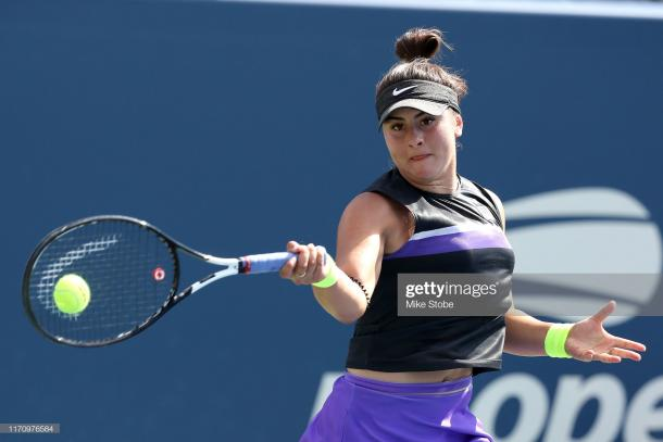 Bianca Andreescu will look to reach the second week on her main draw debut | Photo: Mike Stobe/Getty Images
