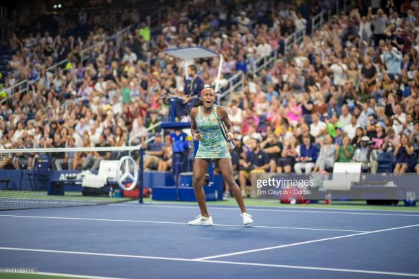 Cori Gauff will have the crowd behind her on Saturday | Photo: Tim Clayton/Corbis via Getty Images