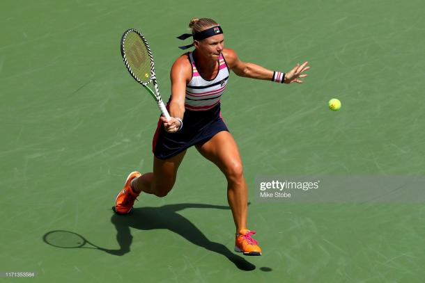 Kiki Bertens struggled at the Majors this year, with her best result being a third-round appearance at Wimbledon and US Open | Photo: Mike Stobe/Getty Images