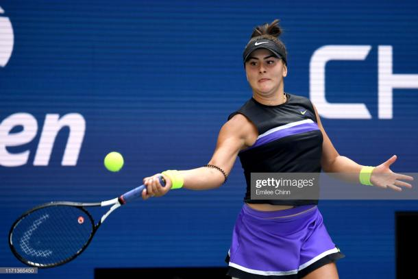 Bianca Andreescu found her best tennis during the crucial moments today | Photo: Emilee Chinn/Getty Images