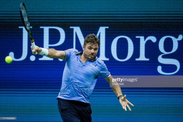 The Wawrinka backhand was the most devastating shot on the court/Photo: Chaz Niell/Getty Images