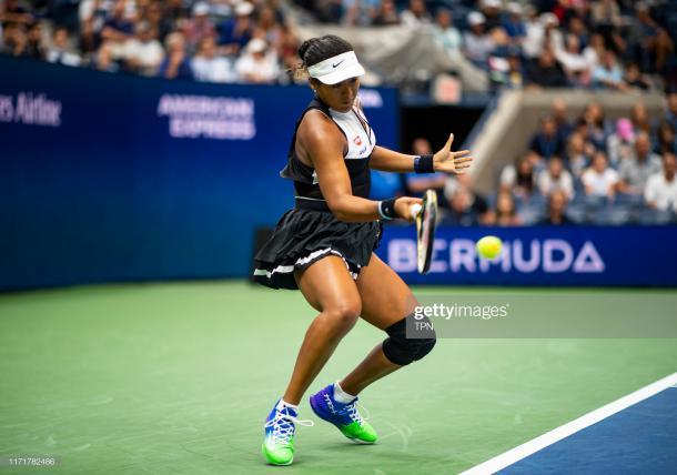 Osaka had her 11-match US Open winning streak snapped/Photo: Chaz Niell/Getty Images via Zimbio