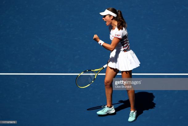 Johanna Konta hoped to beat the Ukrainian for the first time. (Getty Images/Clive Brunskill)