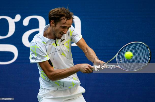 Medvedev continues his incredible run through the hard court summer/Photo: TPN via Getty Images via Zimbio
