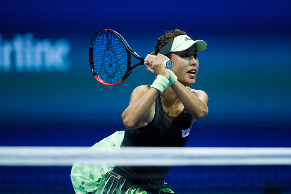 Qiang in action at the US Open in 2019 (Image: Chaz Neill)