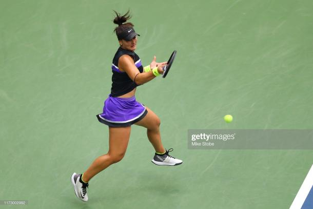 Andreescu was flying through the match until nerves kicked in | Photo: Mike Stobe/Getty Images