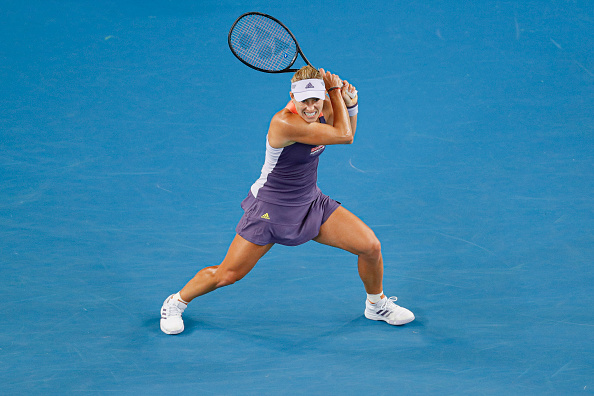 Kerber in action at the Australian Open in January (Image: Fred Lee)