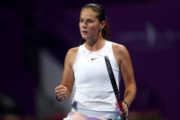 Kasatkina produced an amazing comeback to level the match/Photo: Dean Mouhtaropoulos/Getty Images