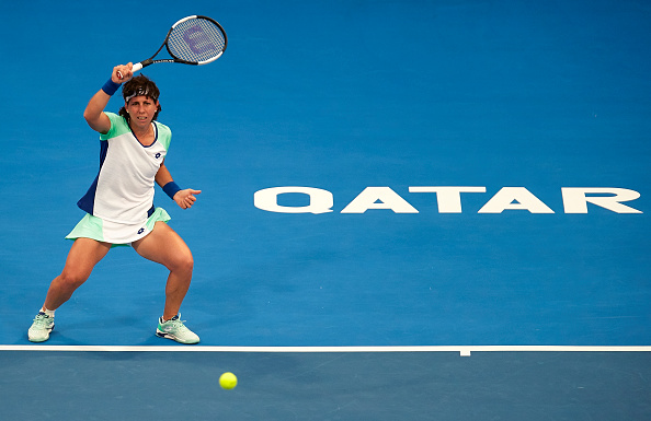 The Spaniard in action in Doha (Image: Quality Sport Images)