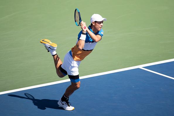 Nishikori at the 2019 US Open (Photo: Tim Corbis)