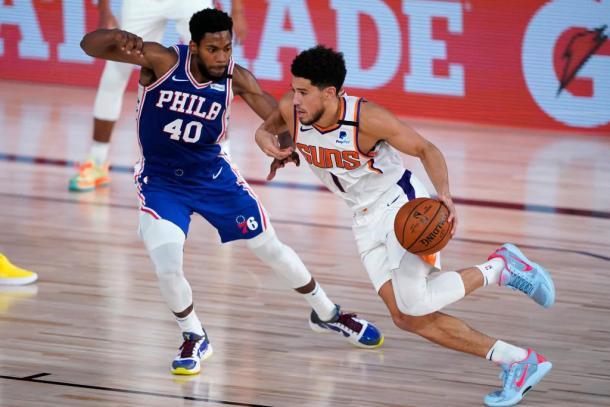Suns-76ers. Fuente: Phoenix Suns