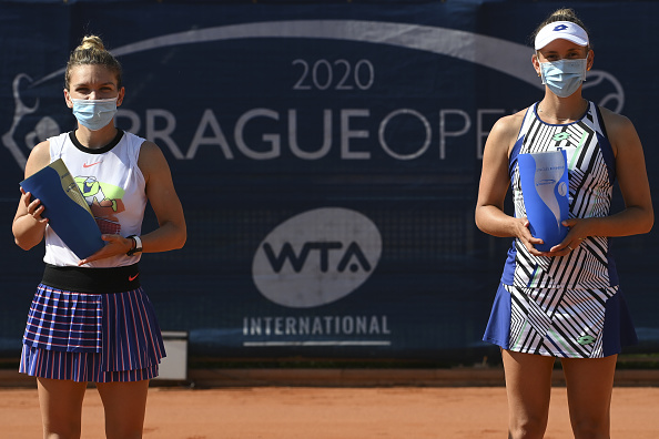 Halep and Mertens following the final (Image: Sport Images)
