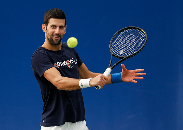 Novak Djokovic practising in Belgrade this week (Image: Srdjan Stevanovic)