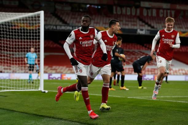Nicolas Pepe had given Arsenal the lead Photo by Ian Kington via Getty Images