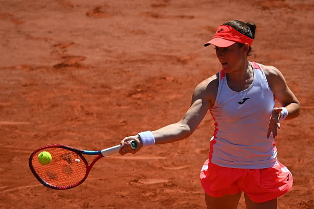 Zidansek's forehand, her biggest weapon, was working early on/Photo: Christophe Archambault/AFP via Getty Images