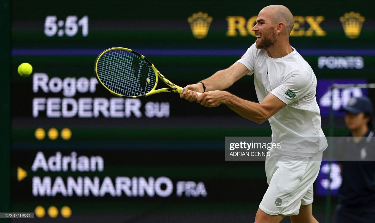 Mannarino played some brilliant tennis before being forced to retire/Photo: Adrian Dennis/AFP via Getty Images
