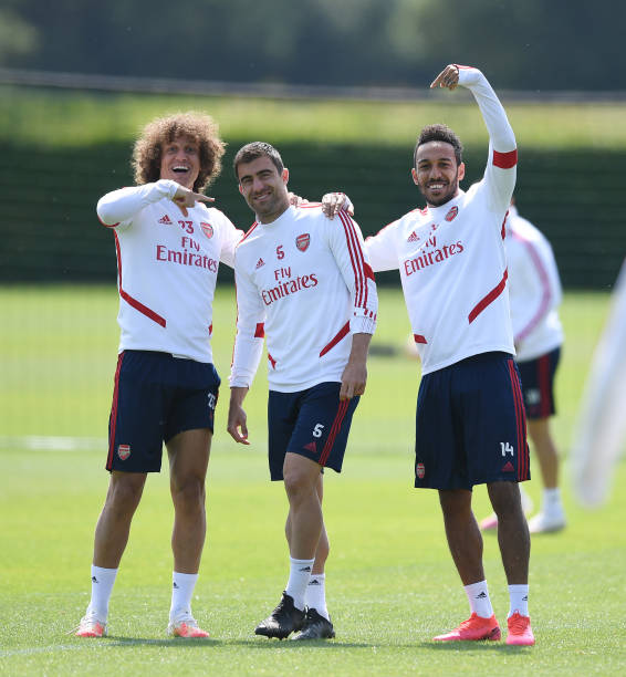 Sokratis admits he has kept in contact with David Luiz and Aubameyang Photo by Stuart MacFarlane via Getty Images