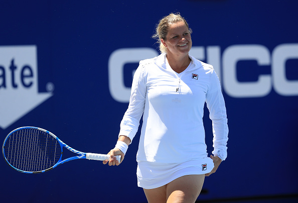 Clijsters pictured in action at World Team Tennis last week (Image: Streeter Lecka)