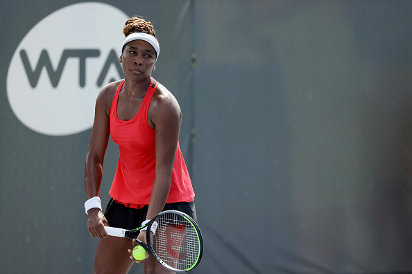 Venus Williams displayed a new and highly effective service motion against Azarenka (Image: Dylan Buell)